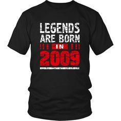 8 years old 8th Birthday B-day Gift Legends 2009 T Shirt – teefim