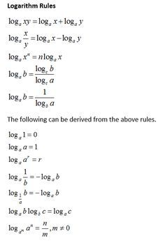 How to proof the properties of logarithms: product rule, quotient rule, power rule, change of base rule with examples and step by step solutions Math Vocabulary, Maths Algebra, Ap Calculus, Math Formula Chart, Algebra Formulas, Math Tutorials, Maths Solutions, Math Notes, Physics And Mathematics