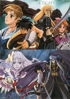 // Escaflowne Version: Movie // Type of item: Pin Up Poster // Company: Movic // Origin: Japan // Release: 2000 June 24 // Other notes: Two sets, A3 //
