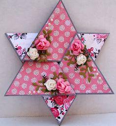 star-shaped folded card