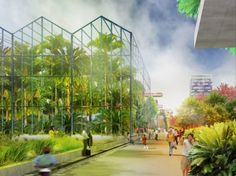 MVRDV Unveils plans to transform Almere, the Netherlands Into the Greenest City Ever Built. Plans for the Floriade 2022 horticultural expo propose a permanent green extension of the existing city center where plants and flowers are the main attraction.