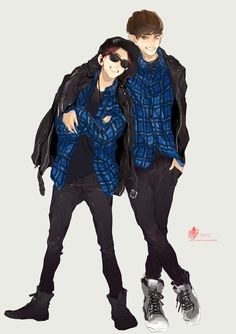 Find images and videos about exo, baekhyun and chanyeol on We Heart It - the app to get lost in what you love. Chanbaek Fanart, Exo Chanbaek, Kpop Fanart, Baekhyun, Exo Ot12, Exo Chanyeol, K Pop, Exo Anime, Exo Fan Art