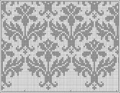 thistle pattern how to knit chart - Google Search