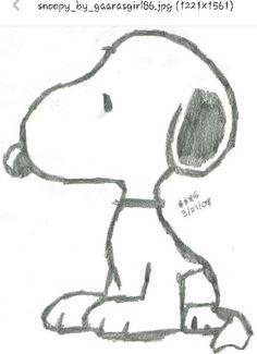 Snoopy Stencis/Drawings