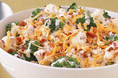 Einfacher Brokkoli-Blumenkohl-Salat - Sweets I Shouldn't Make! Easy Salad Recipes, Healthy Recipes, Healthy Foods, Yummy Recipes, Recipies, Easy Salads, Ketogenic Recipes, Broccoli Cauliflower Salad, Baked Cauliflower