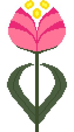 Art Nouveau tulip. Modern cross stitch by crossstitchtheline