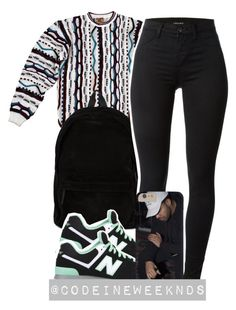 """""""8:13:15"""" by codeineweeknds ❤ liked on Polyvore featuring Ann Demeulemeester, J Brand and New Balance"""