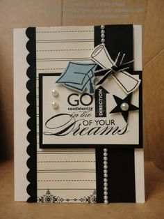 Stampin' & Scrappin' with Stasia: Graduation Card Tarjetas Diy, Congratulations Card, Card Tags, Card Kit, Creative Cards, Greeting Cards Handmade, Diy Cards, Scrapbook Cards, Homemade Cards