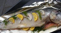 Saumon Citron Bergamote et aux Herbes du Jardin / Salmon in the oven /salmao no formo