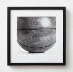 RH TEEN's Vintage Sports Gear Photography - Basketball:High-contrast black-and-white images of vintage sports gear – purposefully cropped to enhance their abstract, orderly appeal. Choose a single likeness or hang in multiples, paying homage to the sporting life.