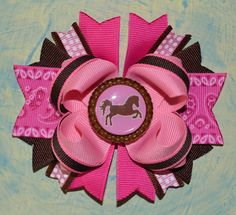03d05d46cb6 Items similar to SALE Cowgirl Horse Bottle Cap Boutique Hair Bow on Etsy