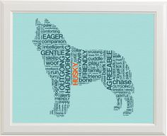 Create a custom text art print using your pet's silhouette