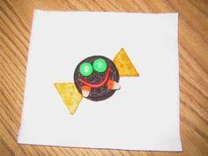 Oreo, candy corn teeth, M eyes, licorice smile, triangle crackers Cooking In The Classroom, Preschool Cooking, Preschool Snacks, Preschool Crafts, Candy Corn, Zoo Phonics, Stellaluna, Oreo, Cute Snacks
