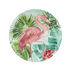 The VASAIO Side Plate, Flamingo is part of freedom's range of contemporary furniture and homewares and is available to buy online or in stores across Australia. Tropical Dinnerware, Side Plates, Ceramic Painting, Sale Items, Freedom, Colours, Display, Contemporary, Blush