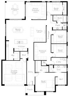Impressions - Dechellis Homes Best House Plans, Dream House Plans, House Floor Plans, Australian Farm, Australian Homes, Custom Home Designs, Custom Homes, House Plans Australia, House Blueprints