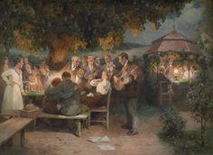 Carl Larsson, Pierre Auguste Renoir, Large Art, Art Reproductions, Vintage Posters, Vintage Artwork, Medieval, Hand Painted, Painting