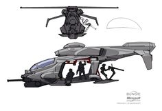 Future helicopter, futuristic flying dropship concept art and design concept Flying Vehicles, Army Vehicles, Armored Vehicles, Futuristic Armour, Futuristic Cars, Military Helicopter, Military Aircraft, Concept Ships, Concept Cars