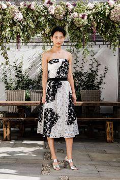 Sachin & Babi | Spring 2016 Ready-to-Wear | 15 Monochrome lace strapless midi dress