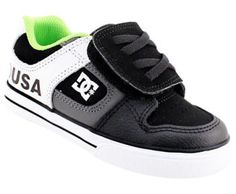 Baby Toddler DC Shoes Pure Velcro Athletic Shoes