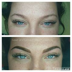 Powder Ombre effect  Permanent MAKE UP Atelier Gdynia