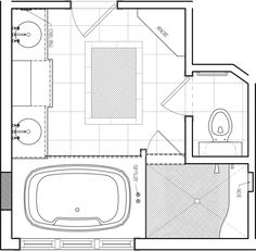 8 x 12 foot master bathroom floor plans walk in shower - possible ...