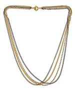 Janna Conner Designs Gold Plate Dax Crystal Swarovski Necklace
