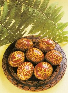 Polish Easter eggs dyed in onion shells