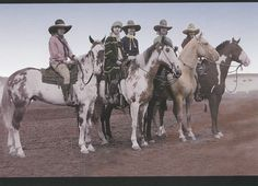 Pendleton Oregon Rodeo Cowgirls of 1926 on Pinto Horses Large Frameable Postcard   eBay