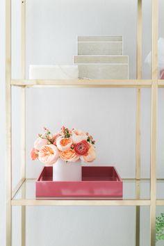the perfect gilded shelf moment | Design by Manderley Design Co. -  http://www.manderleydesignco.com/ | Photography: Matthew Land Studios - http://www.matthewland.com/