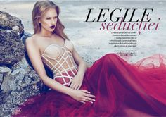 Lingerie Editorial: ID.Sarrieri Lingerie for Rumours Magazine Red dress! Lingerie Editorial, Lingerie Shoot, Editorial Fashion, Corsets, Style Boudoir, Mega Fashion, Lingerie Fine, Beautiful Lingerie, Mode Editorials