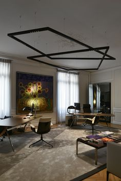 Kreon tools of light is a trendsetting lighting manufacturer which approaches lighting from an architectural perspective. Lighting Manufacturers, Office Lighting, Office Interiors, Modern Classic, Light Fixtures, Living Rooms, Boston, Powder, Villa