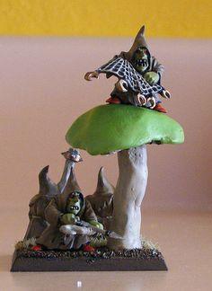 regiment base warhammer night goblin   Night Goblin Unit Filler (+mushroom)