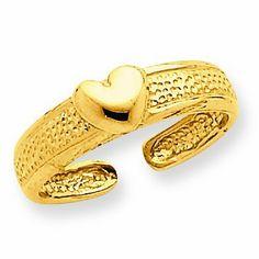 14k Heart Toe Ring RedBoxJewels.com. $127.95