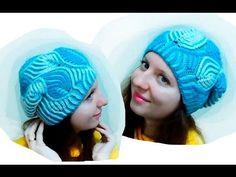 "Женская шапка ""Морозные узоры"" Бриошь спицами. Часть 1 // Brioche Stitch // Women's hats knitting - YouTube"