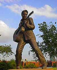 The Statue of Elvis is one of the most famous landmarks in Memphis and serves as a reminder of the city's iconic Rock 'n' Roll star.