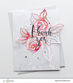 Hello, everyone! It's Aga here and today I would like to share a card with a stamped background and floral die cuts as the main focal embellishment. I used a stamp from theWatercolor Frames Stamp Set withSilver Stone ink and decided to stretch the versatility of it by creating a stamped pattern. Next, I added …