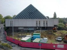 The beginning of the end for the Dolphin Centre, viewed from the Mercury Gardens car park (see map), 27 July 2004.