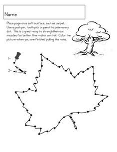 pin poking activities free printables montessori ideas
