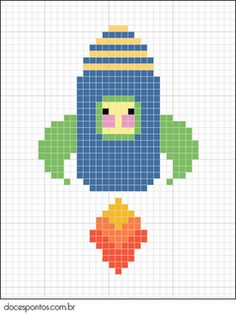 cross stitch - Rocket