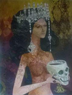 "ARTFINDER: Diamond Donna by Olga Zelinska - Margarita at the ball at Voland (""the Master and Margarita"" by Bulgakov)"