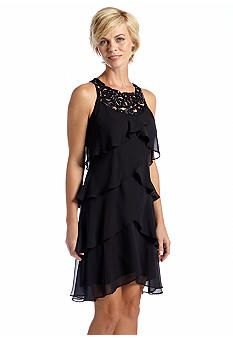 SL Fashions Sleeveless Tulip Tiered Dress  belk  $90 1/18/14 black only