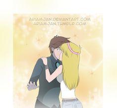 Kiss Request by AriamJan.deviantart.com on @DeviantArt