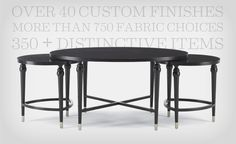 Hickory White custom finishes - more than 750 fabric choices and 350 plus distinctive items