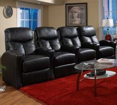 13175 Tangiers Power Recline Black Bonded Leather | Berkline