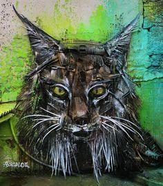 Artista transforma lixo em intervenções urbanas impressionantes