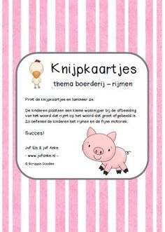 rijmen kleuters Art Therapy, Spelling, Homeschool, Classroom, Teaching, Stage, Pug, Class Room, Education