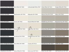 Sherwin williams interior paint colors for sensationell interior design furniture creations for inspiration interior decoration 19 Paint Color Chart, Paint Charts, Paint Color Schemes, Color Charts, Interior Paint Colors For Living Room, Exterior Paint Colors, Paint Colors For Home, House Colors, Gray Exterior