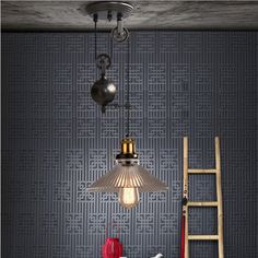 128.00$  Buy now - http://ali99n.worldwells.pw/go.php?t=32567898668 - Dining room glass or metal shade lifting hanging lamps retro vintage Pulley pendant lights E27*1 kitchen light rustic bar sconce