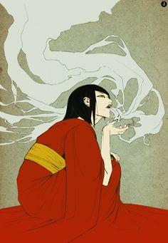 ImageShack® Online Photo and Video Hosting in Illustration Japan Illustration, Smoke Art, Matou, Japanese Painting, Japanese Artwork, Japanese Prints, Japan Art, Geisha, Art Inspo
