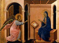 Duccio (di Buoninsegna) - Maesta, Ankündigung des Todes von Maria